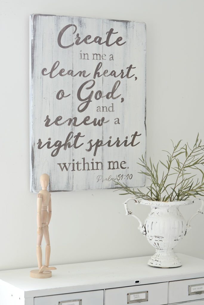 Clean Heart Sign
