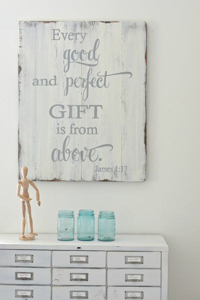 Every good and perfect gift - sign by Aimee Weaver Designs
