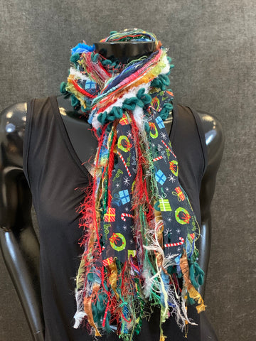 Christmas color art scarf, secret santa gift
