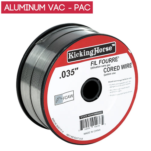 KickingHorse® vac-pac E71T-11 flux-core wire steel 035, 2 LB spool