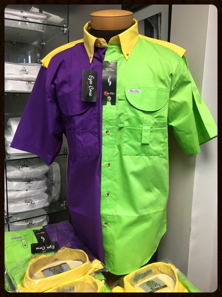 Mardi Gras Fishing Shirts