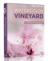 Free Watercolor Texture: Vineyard