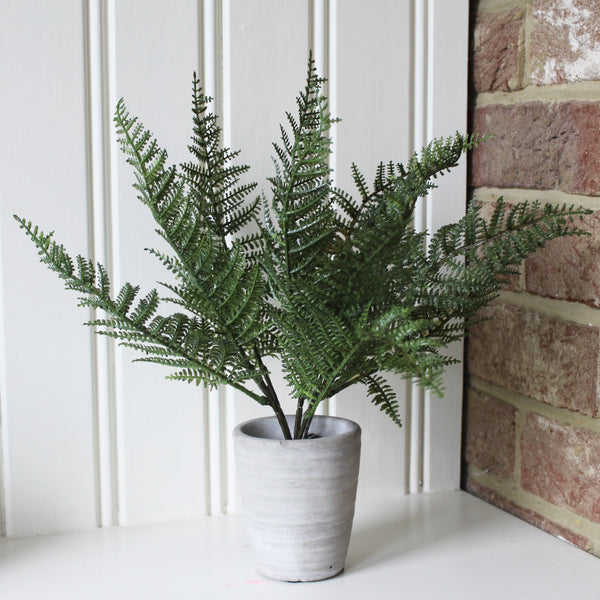Artificial Potted Lady Fern Plant