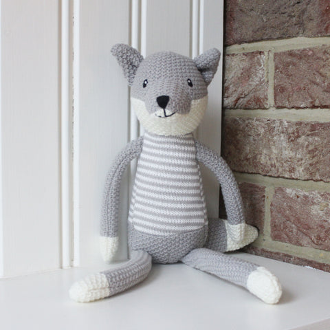 Knitted Fox Soft Toy