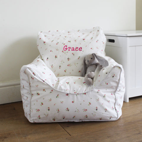 Personalised Child Bean Chair - Floral