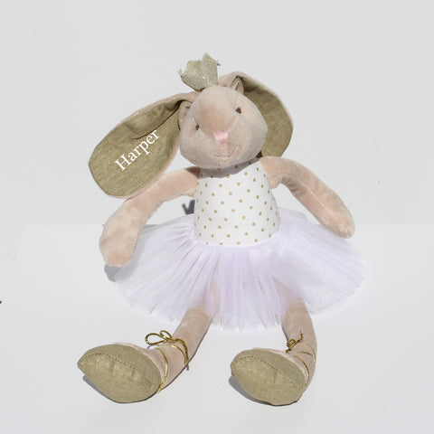 Personalised Dancing Gold Bunny Rabbit Soft Toy