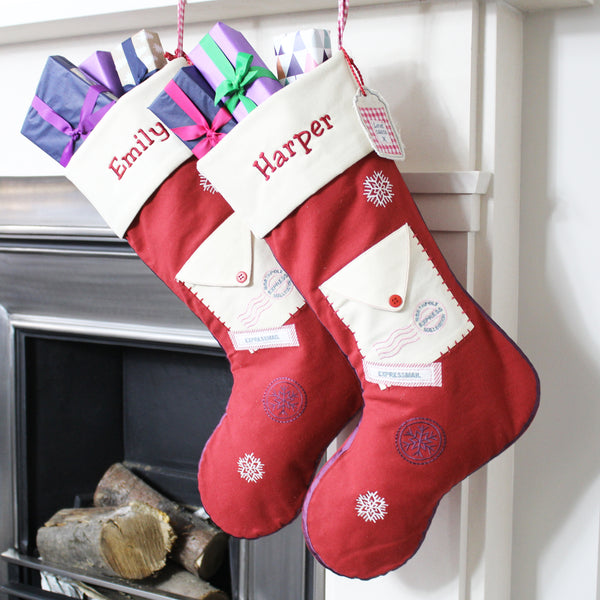 Personalised Letter to Santa Stocking