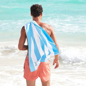 Personalised Micro Fibre Beach Towel - Aqua Blue