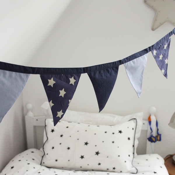 Blue Bedroom Bunting Garland