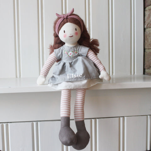 Personalised Knitted Alma Doll