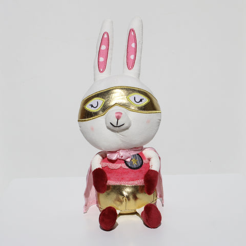 Personalised Super Hero Rabbit Soft Toy