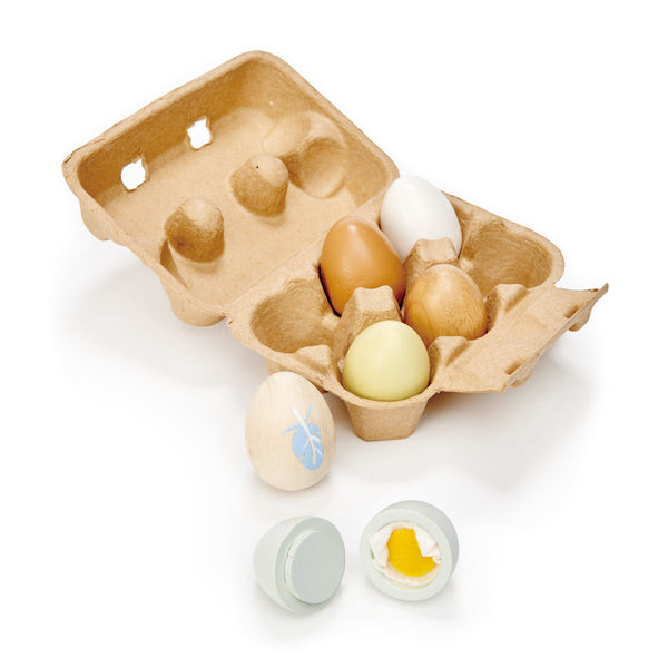 Wooden Toy Eggs