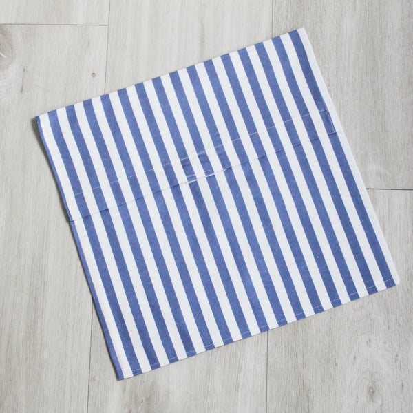 Personalised Blue Stripe Adult Apron