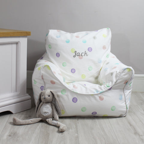Personalised Child Bean Chair - Spot