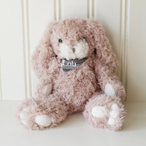 Personalised Small Soft Fluffy Bunny Rabbit - Pink