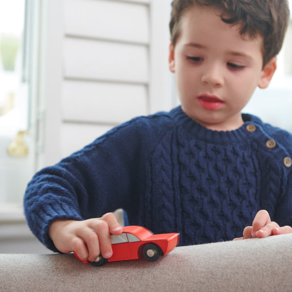 Retro Wooden Toy Cars