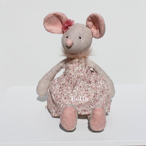 Personalised Mouse with Floral Dress