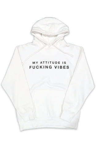 Attitude Vibes Hoodie in White