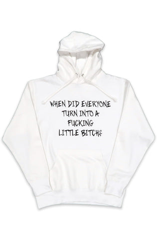 Little Bitch Hoodie in White