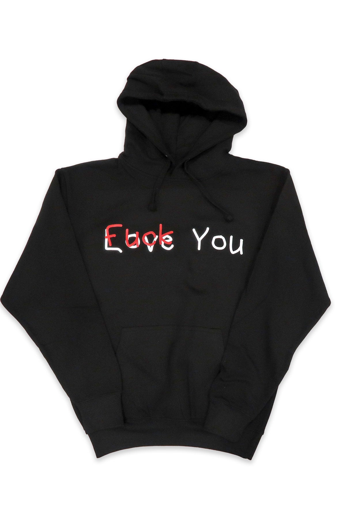 Love You Fuck You Hoodie in Black