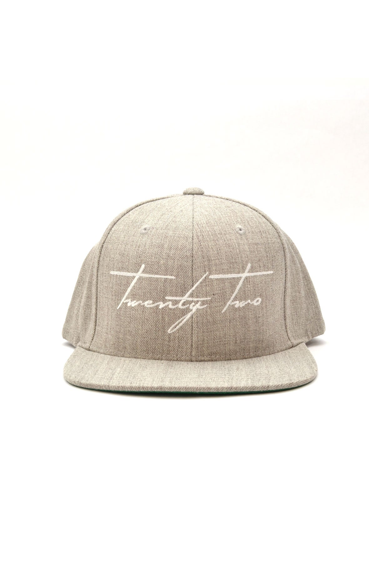 Signature Snapback in Heather Gray/White