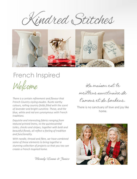 Kindred Stitches Magazine - French Inspired