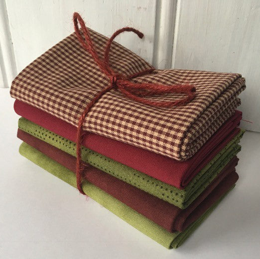5 fat quarters Christmas #500