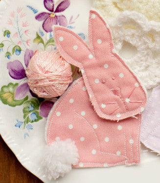 fabric bunny brooch easter pdf pattern