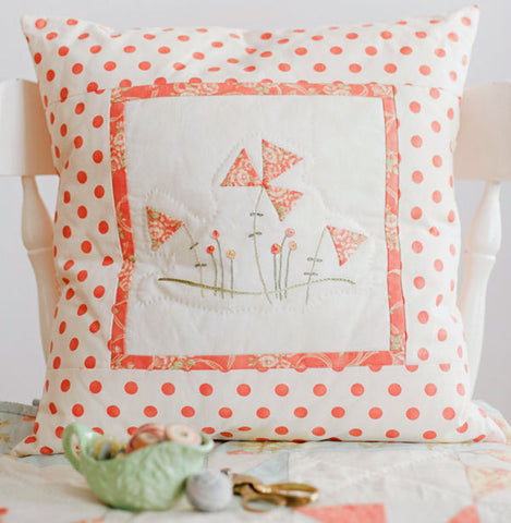 hand embroidered pillow pattern