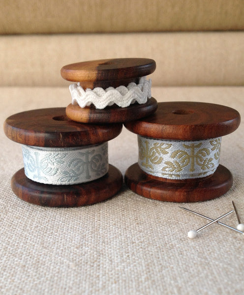Three Timber Cotton Reels