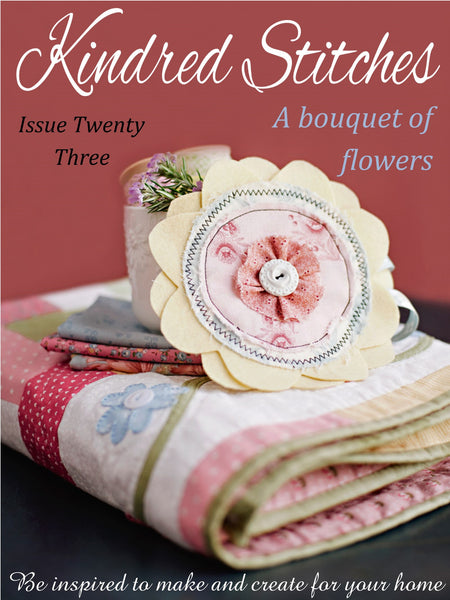 Kindred Stitches Magazine - A Bouquet of Flowers
