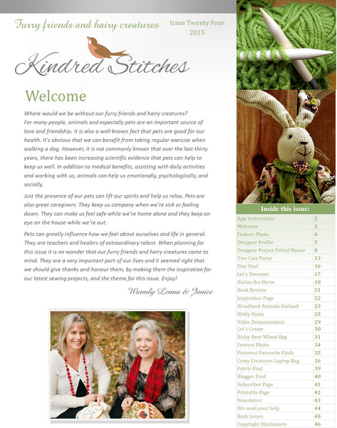 Kindred Stitches Magazine - Furry Friends and Hairy Creatures