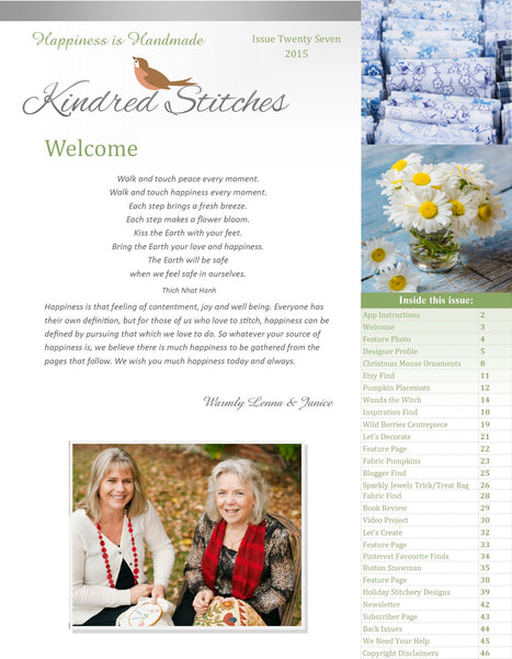 Kindred Stitches Magazine - Happiness is Handmade