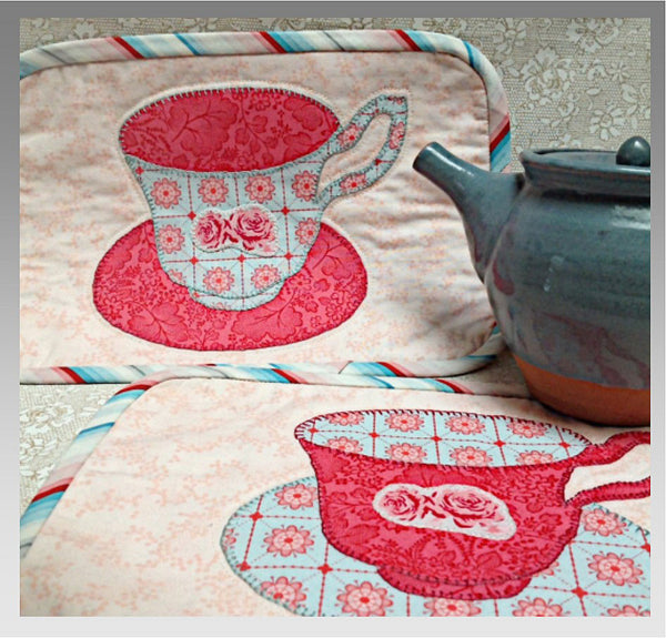 Tea for Two Mug Rug Pattern