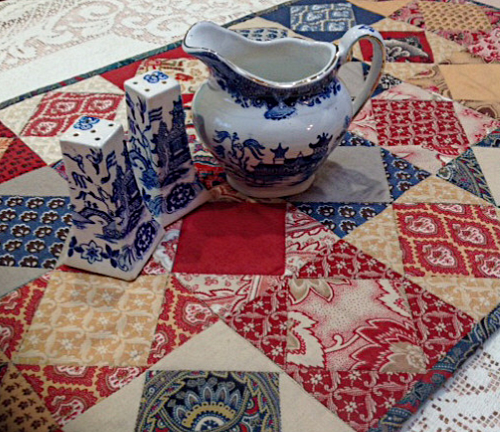 patchwork table runner pdf pattern