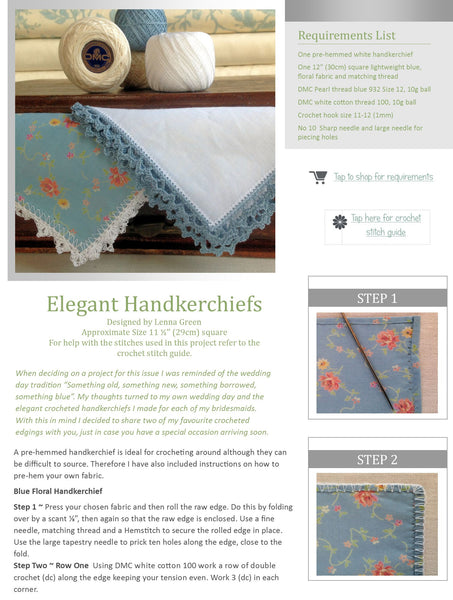 Kindred Stitches Magazine - Pretty in Blue
