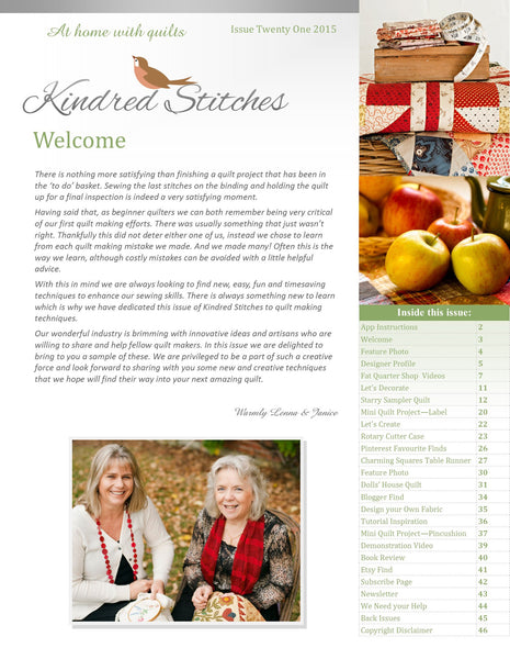 Kindred Stitches Magazine - At Home with Quilts