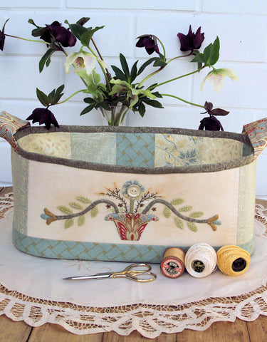 Basket of Flowers Fabric Sewing Box