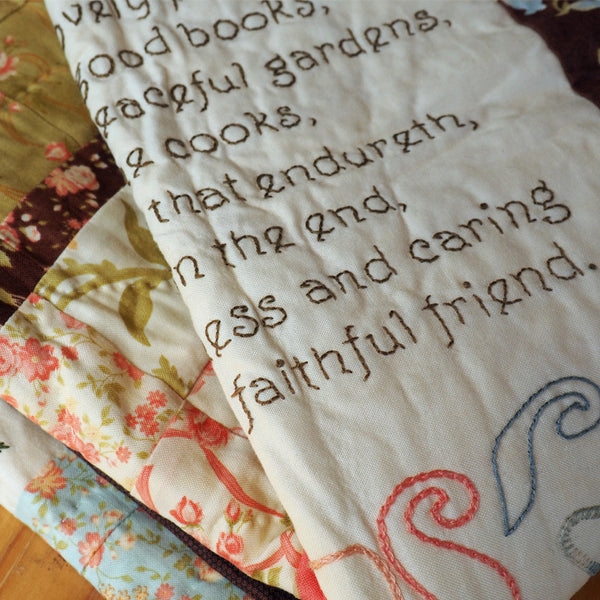 hand embroidery block of the month quilt pattern