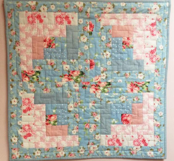 Blue Flower Wall Quilt