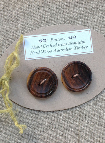 pair wooden buttons