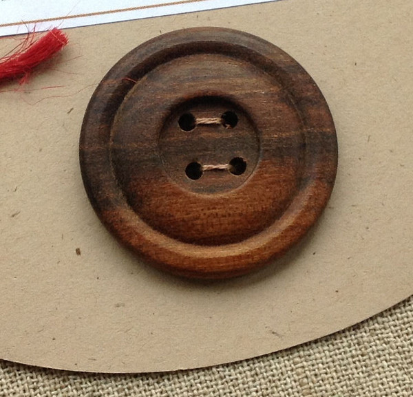 handcrafted timber button