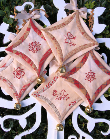 Christmas decoration pattern redwork