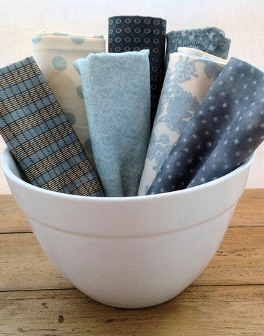 blue fat quarter quilting fabrics