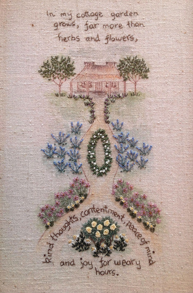 cottage garden hand embroidery pattern