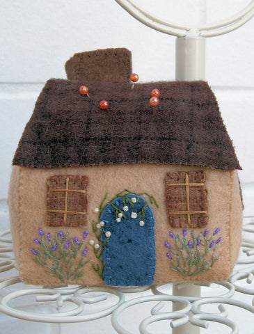 Cottage in Bloom Felt Pincushion