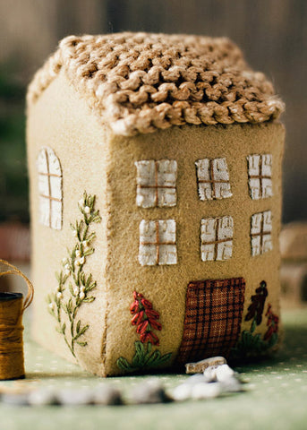 English Hollyhock Felt Cottage