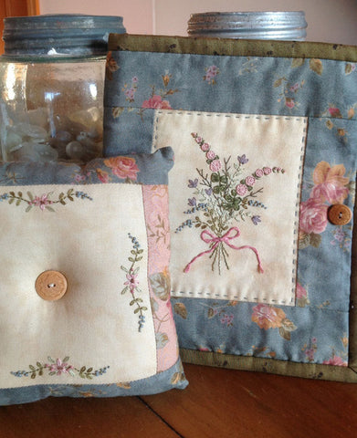 Hand Embroidered Needle Case and Pinchusion pattern