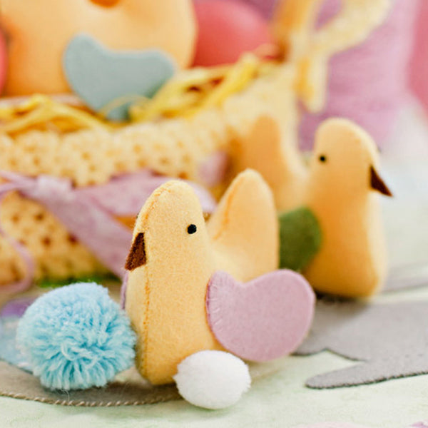 felt hen chicks chickens easter pdf pattern