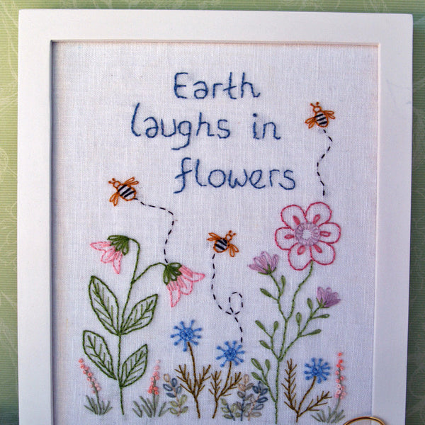 garden hand embroidery flowers pdf pattern